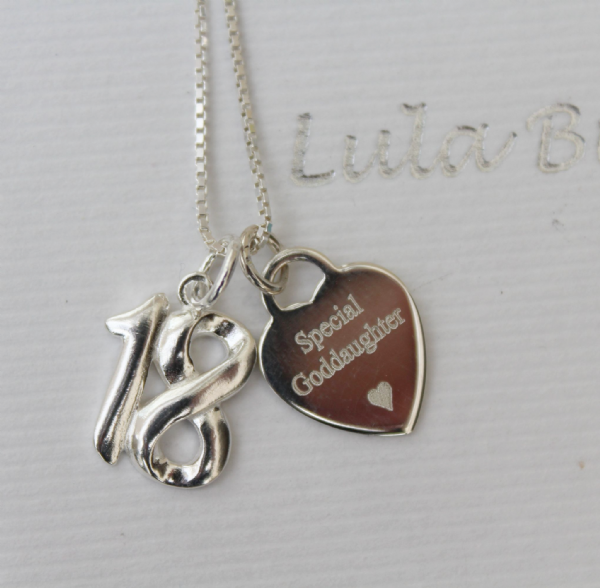 18th birthday gift for a Goddaughter - FREE ENGRAVING